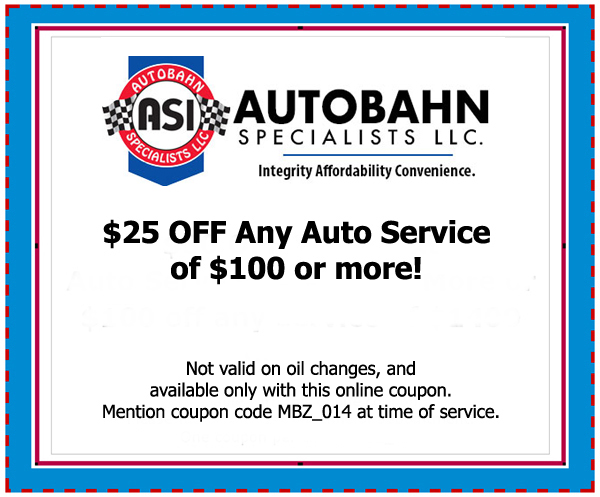 $25 OFF Any Auto Service of $100 or more!